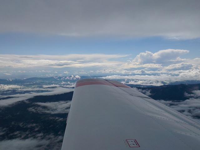 über den Wolken ... auf dem Weg nach Budapest