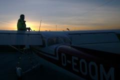 Vorbereitungen für die Nachtflugausbildung